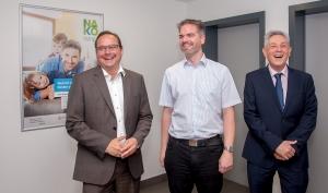 Essen OB Thomas Kufen, Thorsten Kläver (NAKO Teilnehmer), Prof. Dr. Karl-Heinz Jöcke.
